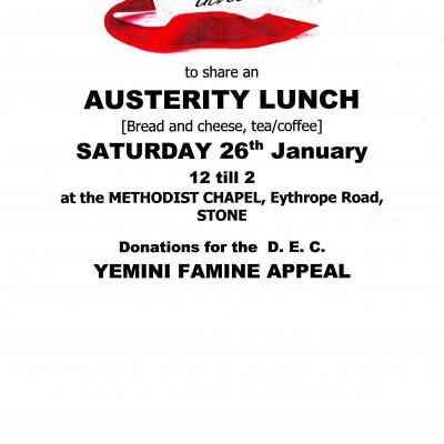 Austerity lunch poster