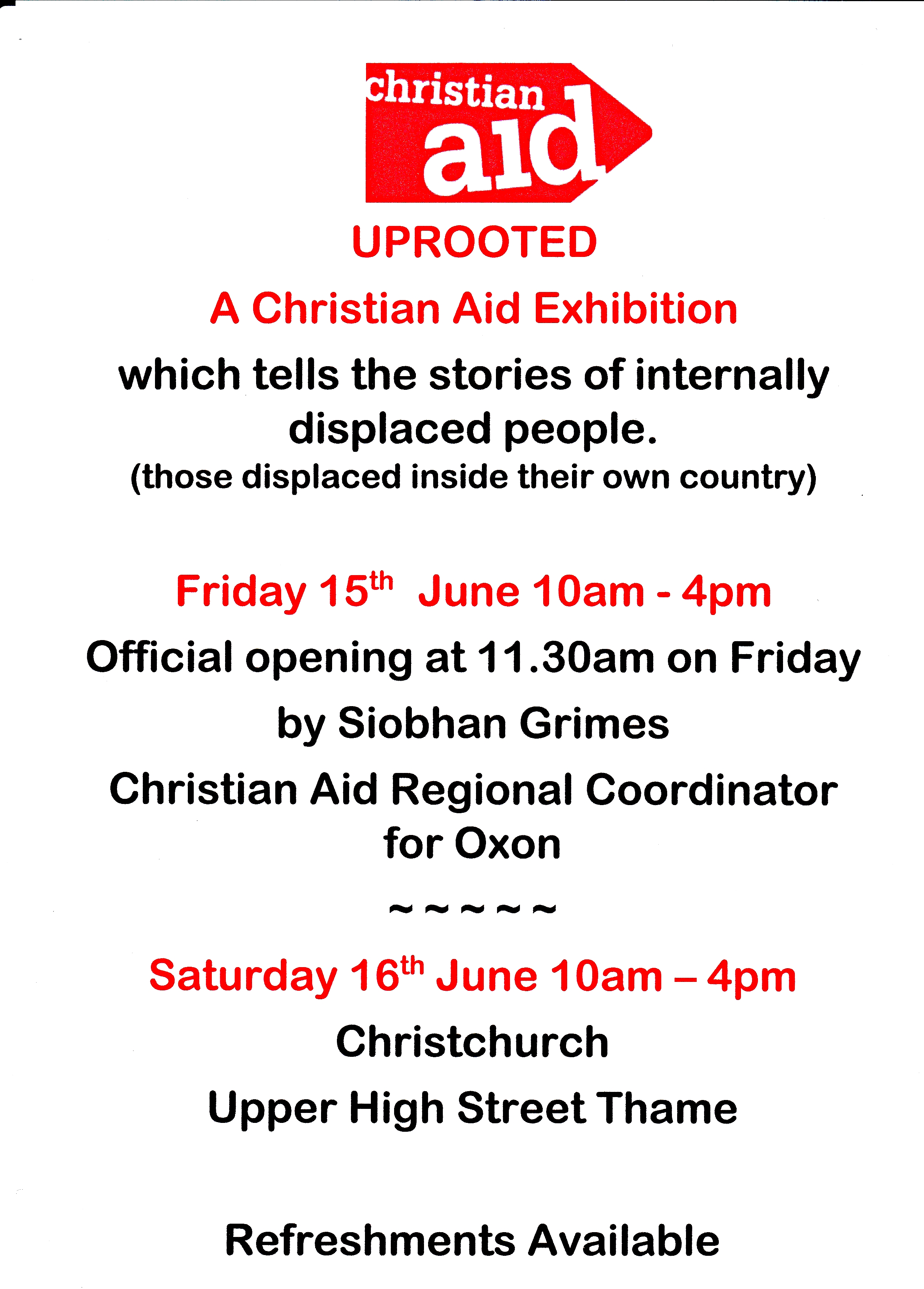 Christian Aid Exhibition