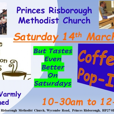 Coffee Morning Saturday 14th March 2020