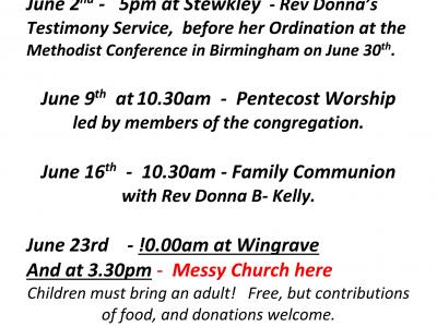 June services poster 19
