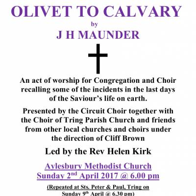 Master Poster A4 Colour Olivet to Calvary