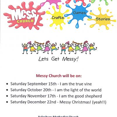 Messy Church sept-Dec 18