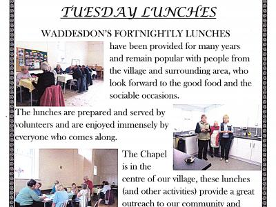 POSTER WADDESDON LUNCH