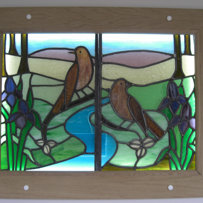 Stained glass window transferred from Bledlow chapel