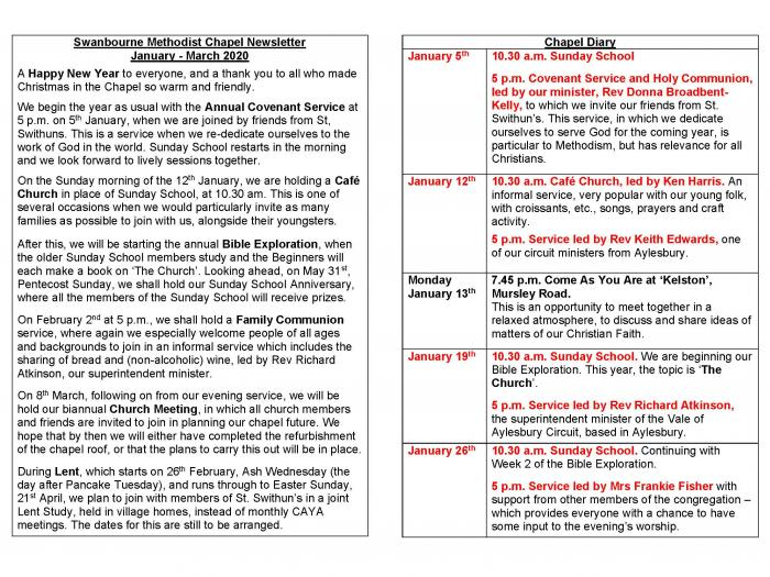 Swanbourne Chapel Newssheet Jan - Mar 2020_Page_1